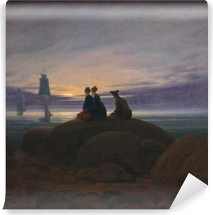Vinyl Fotobehang Caspar David Friedrich - Východ měsíce nad mořem II