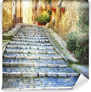 Vinyl Fotobehang Charmante oude straten van middeleeuwse dorpen van Italië