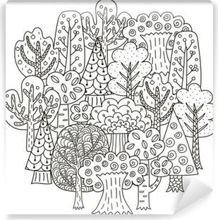 Kleurplaten Voor Volwassenen Fantasie.Fotobehang Wijn Glas Met Druiven Kleurplaat Voor Volwassenen In