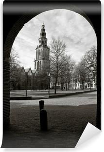 Vinyl Fotobehang Cityscape van Groningen met de Martinitoren