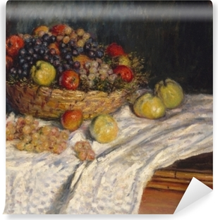 Vinyl Fotobehang Claude Monet - Druiven en appels