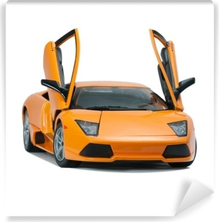 Vinyl Fotobehang Collectible toy model Lamborghini vooraanzicht