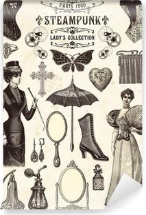 Vinyl Fotobehang Collectie steampunk dame