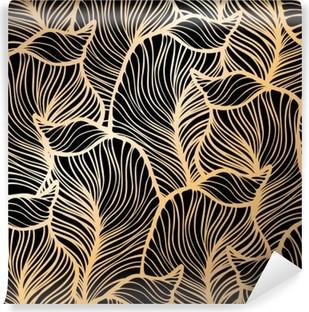 Vinyl Fotobehang Damast naadloze bloemmotief. Royal wallpaper
