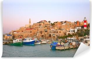 Vinyl Fotobehang De oude haven van Jaffa. Tel Aviv