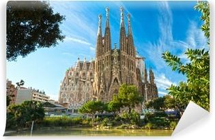 Vinyl Fotobehang De Sagrada Familie, Barcelona, Spanje.