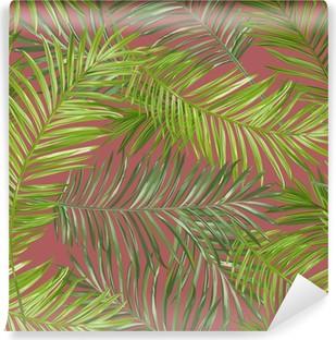Vinyl Fotobehang De tropische Achtergrond van Bladeren