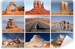 Vinyl Fotobehang De weg naar Arizona en Utah