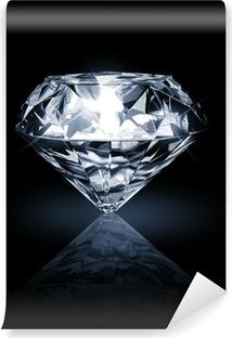 Vinyl Fotobehang Diamant op donkere achtergrond