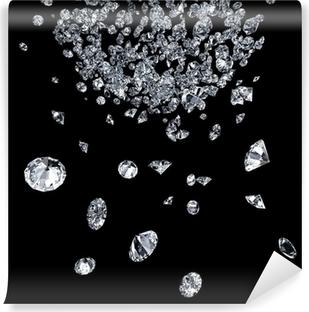 Vinyl Fotobehang Diamanten op zwart