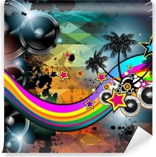 Vinyl Fotobehang Disco club flyer sjabloon. Abstracte achtergrond te gebruiken voor muziek