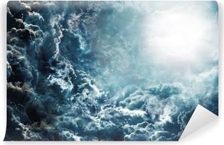 Vinyl Fotobehang Donkere hemel met maan