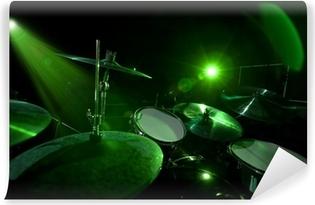 Vinyl Fotobehang Drums in het groene licht