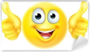 Vinyl Fotobehang Duimen omhoog emoticon emoji
