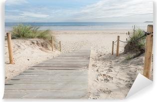 Vinyl Fotobehang Een paadje naar het strand