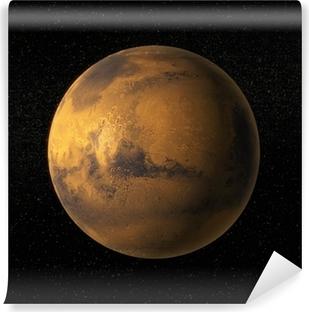 Vinyl Fotobehang Een weergave van de planeet Mars