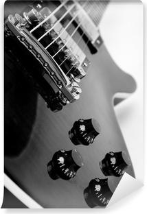 Vinyl Fotobehang Elektrische gitaar op een witte achtergrond