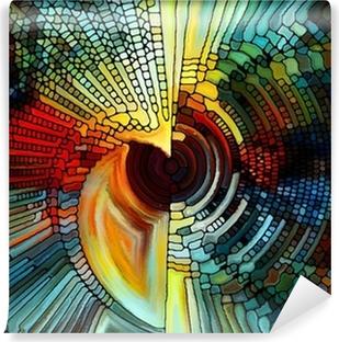 Vinyl Fotobehang Elementen van het gebrandschilderd glas