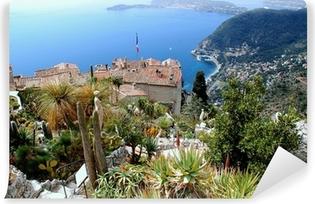 Vinyl Fotobehang Eze, bekende toeristische plaats aan de Franse Riviera