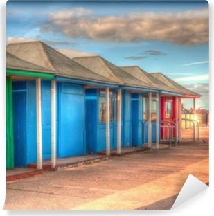 Vinyl Fotobehang Fel gekleurde strandhuisjes