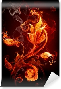 Vinyl Fotobehang Fire Flower