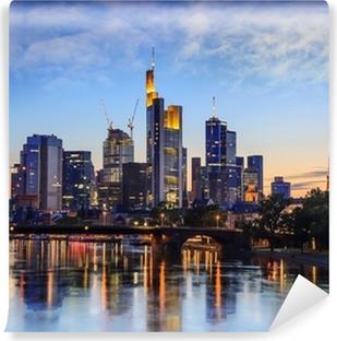 Vinyl Fotobehang Frankfurt skyline, Duitsland