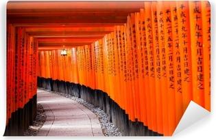 Vinyl Fotobehang Fushimi Inari Shrine in Kyoto-klaar is, Japan