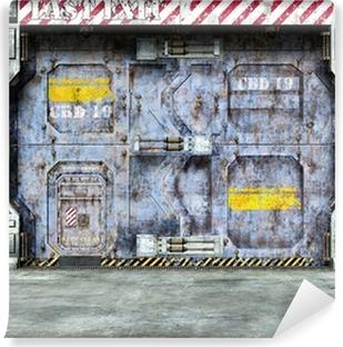 Vinyl Fotobehang Futuristische ruimteschip deur