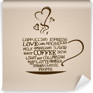Vinyl Fotobehang Geïsoleerde pictogram van een koffiekopje