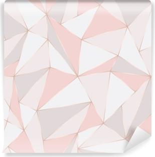 Vinyl Fotobehang Geometrisch naadloos patroon. abstracte veelhoekige achtergrond. driehoek vector pastel achtergrond.