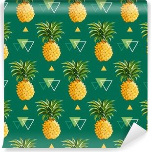 Vinyl Fotobehang Geometrische Pineapple Achtergrond