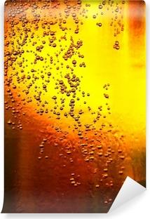 Vinyl Fotobehang Glas bier met bubbels