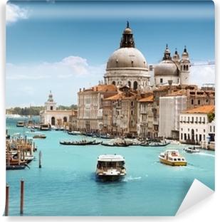 Vinyl Fotobehang Grand Canal en de basiliek Santa Maria della Salute, Venetië, Italië