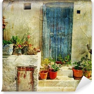 Vinyl Fotobehang Griekse straten, artistieke foto