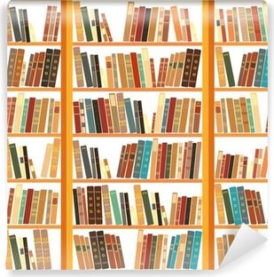 Vinyl Fotobehang Grote boekenkast met verschillende boeken