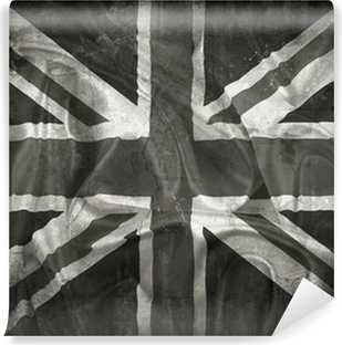 Vinyl Fotobehang Grunge Union Jack vlag achtergrond