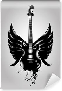 Vinyl Fotobehang Guitar oude school