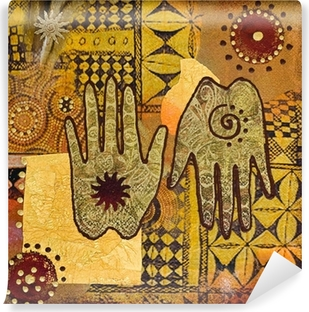 Vinyl Fotobehang Hand schilderen