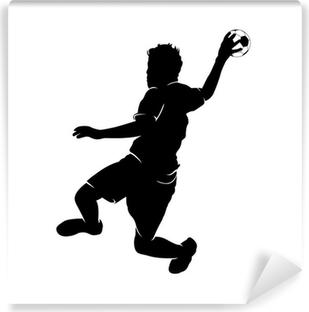 Vinyl Fotobehang Handballer