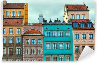 Vinyl Fotobehang HDR beeld van oude Warschau huizen