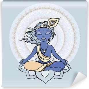Vinyl Fotobehang Hindoe god Krishna.