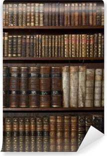 Vinyl Fotobehang Historische oude boeken in oude plank bibliotheek