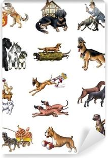 Vinyl Fotobehang Honden
