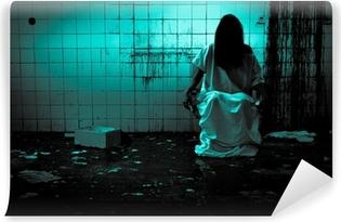 Vinyl Fotobehang Horror of Scary Scene