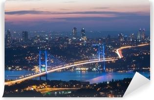 Vinyl Fotobehang Istanbul in de nacht