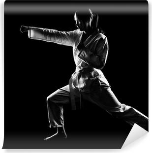 Vinyl Fotobehang Karatemeisje