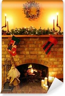 Vinyl Fotobehang Kerstmis Fireside
