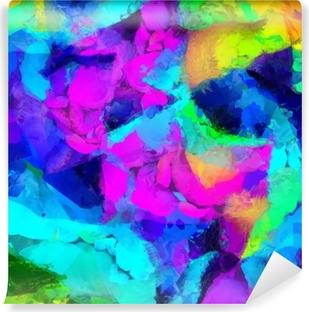 Vinyl Fotobehang Kleurrijk abstract schilderij. 3D-rendering
