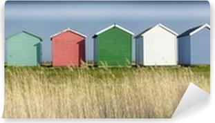 Vinyl Fotobehang Kleurrijke strandhuisjes