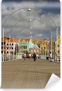 Vinyl Fotobehang Koningin Emma ponton brug Willemstad, Curaçao